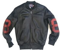 Classic Ckel Original Eight Ball 8ball Leather Jacket 100% Authentic Nwts