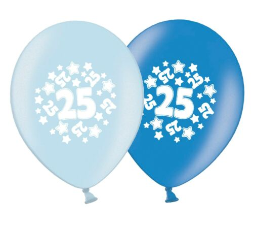 """stars 12/""""  Blue Assortment Latex Balloons pack of 20 number 25"""