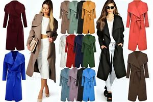 Italian Waterfall Duster Womens Drape Celeb Ladies Long Oversized 8cWZfZSqF
