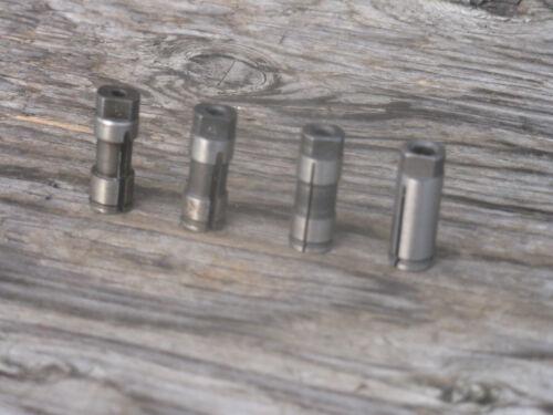 """Procunier tap collets 4 pc X 1-1//32/"""" long lot #6-1//4/"""" 3//8/"""" D"""