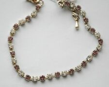 Tennis Bracelet / Silver-tone w Tiny Crystals / Choose Color / Bella Jewelry