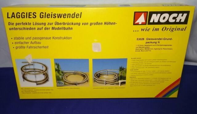Grundkreis #NEU in OVP# NOCH 53026 Spur N LAGGIES Gleiswendel-Komplettbausatz