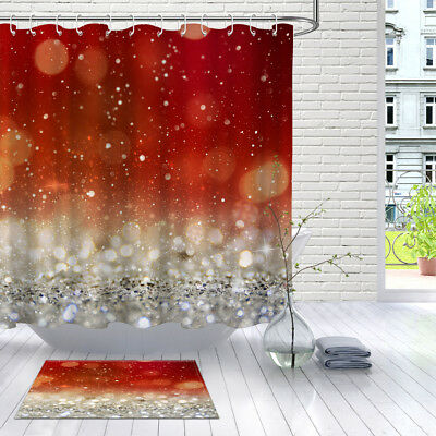 Army Infographics Shower Curtain Liner Waterproof Fabric 12 Hooks /& Bathroom Mat