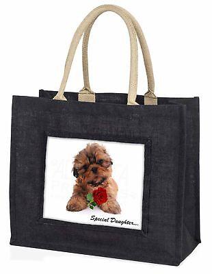 SHIH TZU Hund 'Special Daughter' große schwarze Einkaufstasche Christmas