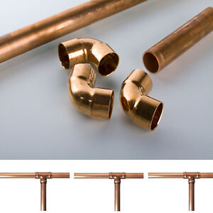 15mm 22mm copper tube pipe plumbing water gas diy for Copper pipe for water