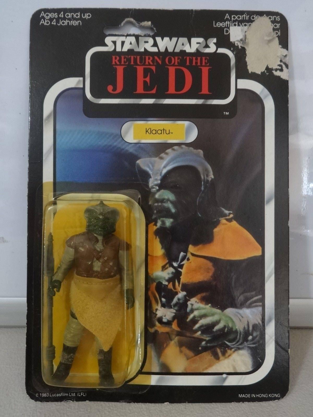 Vintage Star Wars 1983 LE RETOUR DU JEDI Klaatu 65 retour Palitoy nunb offre Comme neuf on Card