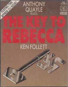 Ken-Follett-Key-To-Rebecca-2-Cassette-Audio-Book-Anthony-Quayle-Thriller-WWII