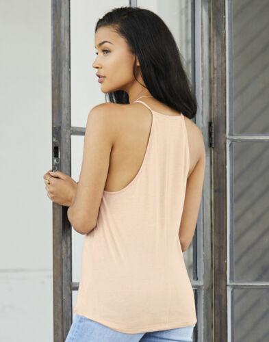 Bella Toile Fashion Pour Femme Femmes Filles Flowy Col Haut Tank T-Shirt Débardeur