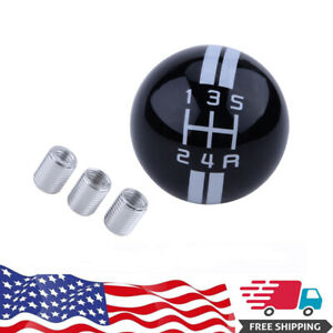 For Ford Mustang Gear Shift Knob 5 Speed Black White Cobra Manual Handle Ball