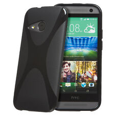Strong TPU X-Style Textured X Grip Back Gel Case Cover for HTC One Mini 2 II