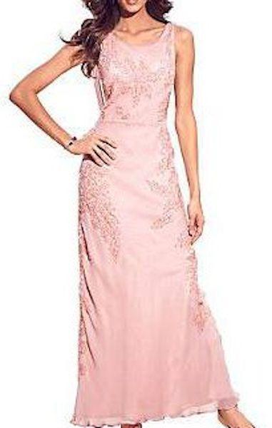 Ashley Brooke zauberhaftes Abendkleid rosé Gr. 19 38 Neu