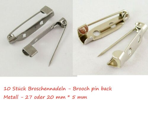 10 20 Broschennadeln Anstecknadeln Brooch pin Brooch back Schmucknadeln Nadeln