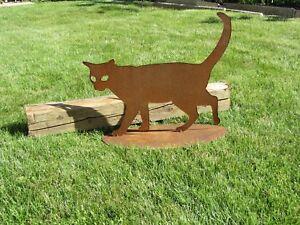 Katze-Katzen-rostig-Rost-Kater-Edelrost-Rost-Deko-Garten-Haustier-Geschenk-Idee