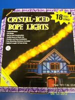Crystal-iced Rope Lights Orange Haunted House Halloween Party Decoration