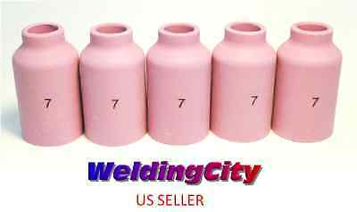 2-pk TIG Welding Long Ceramic Gas Lens Cup 54N17L #5 Torch 17//18//26US Seller