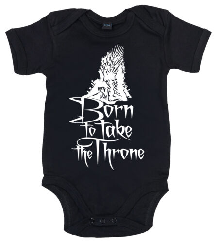 "Game of Thrones Bodysuit /""Born to Take Throne/"" Funny Baby Babygrow Swords"