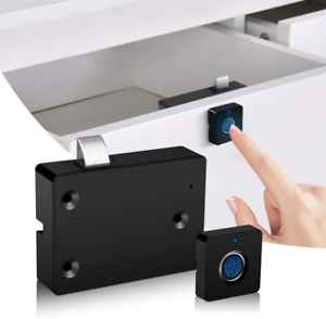 Smart Biometric Fingerprint Lock Electronic Cabinet Door Lock USB Rechargeable
