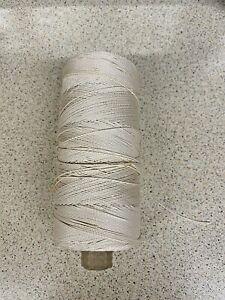 Rayon-Crochet-Thread-Spool-250g-Beige-Shiny-Knitting-Crafts-Vintage
