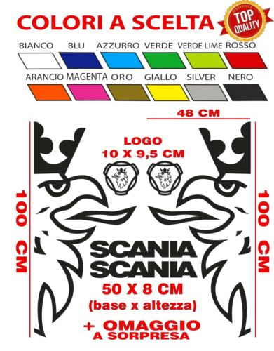 Adesivi SCANIA kit cabina truck camion tir stickers tuning griffin logo