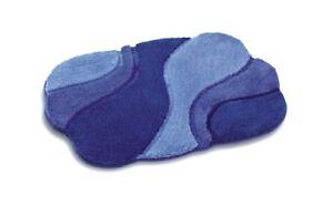 Rhomtuft-Badteppich-Badvorleger-Badematte-AMBIENTE-65x110-cm-Farben-blautoene