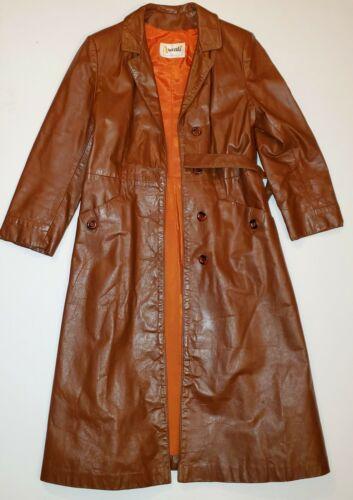 Avanti Women's Brown Leather Jacket Button Belt Vt