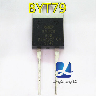 5PCS BYT79X-600 600V 15A Rectifier diode ultrafast TO-220F