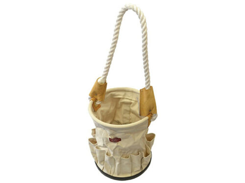 Faithfull Canvas Tool Storage Bucket Tote Bag with Rope Handle