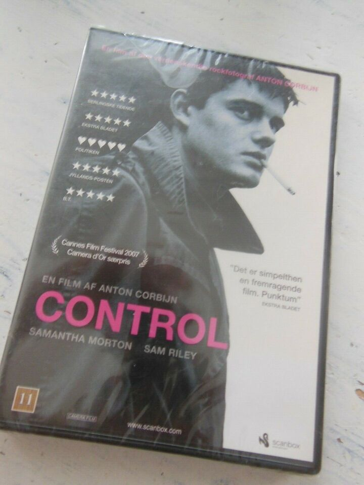 CONTROL (med dk tekst) *NY I FOLIE* Joy Division, DVD, drama