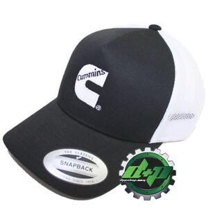 7e806fd761883 Dodge Cummins summer trucker hat cap snap back black w  white mesh ...