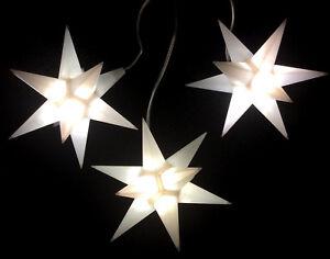 led adventsstern 3x kleine sterne wei innen aussen weihnachtsstern au enstern ebay. Black Bedroom Furniture Sets. Home Design Ideas