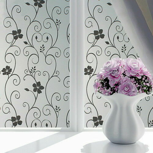 Waterproof Glass Frosted Home Bathroom window Privacy Self Adhesive Film Sticker