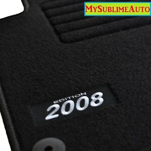 tapis de sol peugeot 2008 depuis 2013 velours edition logo brod neufs ebay. Black Bedroom Furniture Sets. Home Design Ideas