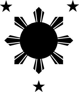Philippines-Flag-Style-B-Vinyl-Sticker-Decal-Sun-and-Stars-Choose-Size-amp-Color