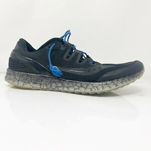 Saucony-Mens-Freedom-ISO-2-S20355-1-Black-Running-Shoes-Lace-Up-Low-Top-Size-12