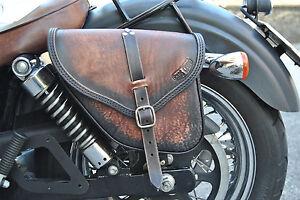 Harley Davidson Saddlebags >> Details About Saddle Bag For Harley Davidson Dyna Street Bob Fat Bob Italian Quality Leather