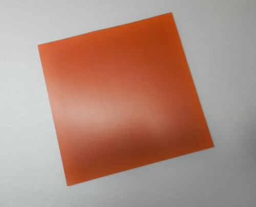 """Silicon Rubber Sheet High Temp Solid Red//Orange Commercial Grade 12/"""" x 12/"""" x1//4/"""""""