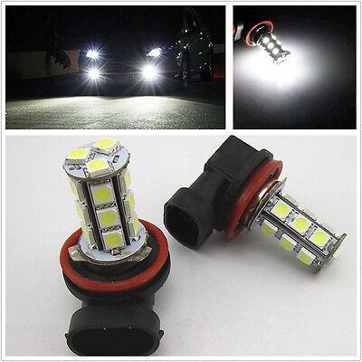 2x 12V White 6000K H11 18-SMD 5050 LED Headlight Bulbs Driving Fog Backup Light