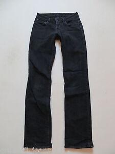 Levi-039-s-Straight-Fit-Jeans-Hose-W-26-L-32-Schwarz-Black-Denim-schmale-Roehre