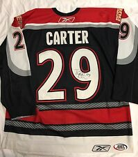 2006-07 AHL PORTLAND PIRATES GAME WORN USED SIGNED RYAN CARTER JERSEY TM DUCKS