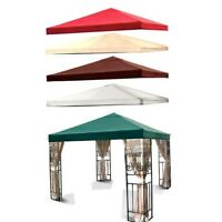 10' X 10' Replacement Gazebo Single Or Double Tiered Canopy Top Cover 10x10