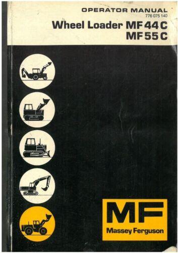 Massey Ferguson Rueda Cargadora MF44C /& MF55C Manual del operador