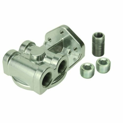 "Derale 25049 Oil Filter Mount Adapter Single Side Port w// 3//4/""-16 Filter Threads"