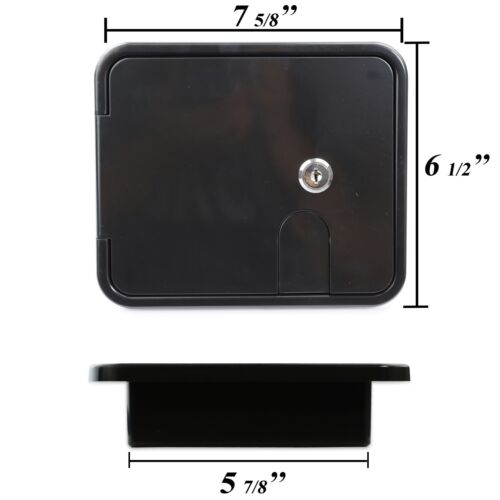 Black Square Electric Cable Hatch Back RV Camper Trailer Parts Home  2MB