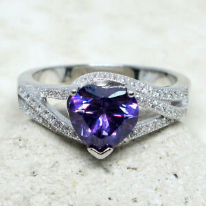 ATTRACTIVE-2-CT-HEART-AMETHYST-PURPLE-925-STERLING-SILVER-RING-SIZE-5-10
