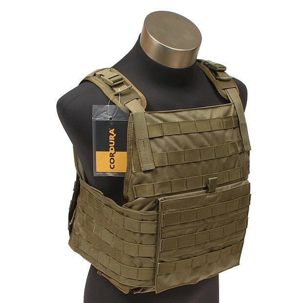 Flyye Tactical PC Plate Carrier MOLLE Webbing Airsoft Cordura Nylon Coyote Brown