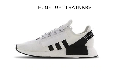adidas NMD R1 V2 White Black MEN'S TRAINERS ALL SIZES | eBay