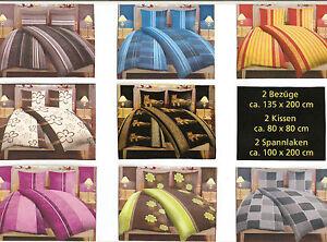 6-8-10-Tlg-4Tlg-Mikrofaser-Bettwaesche-135x200-90-100x200-Spanntuch-Kissen
