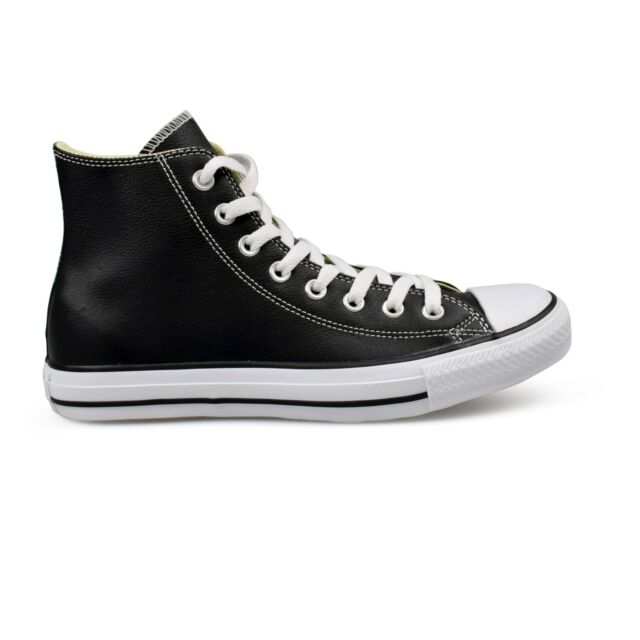 a5542cd08bb Converse Chuck Taylor All Star Leather High Top Black Unisex Trainers New