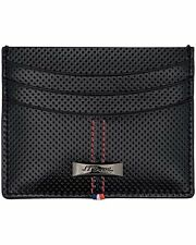 ST DUPONT  McLAREN BLACK DEFI PERFORATED LEATHER WALLET BUSINESS CARD HOLDER