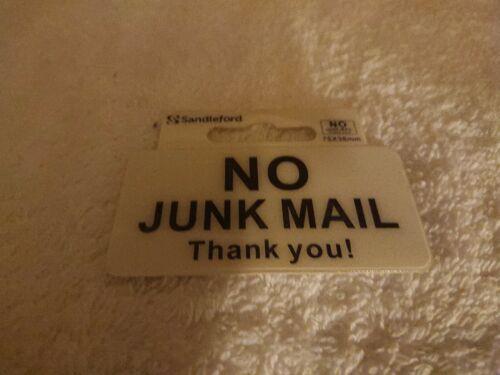 No junk mail door sign